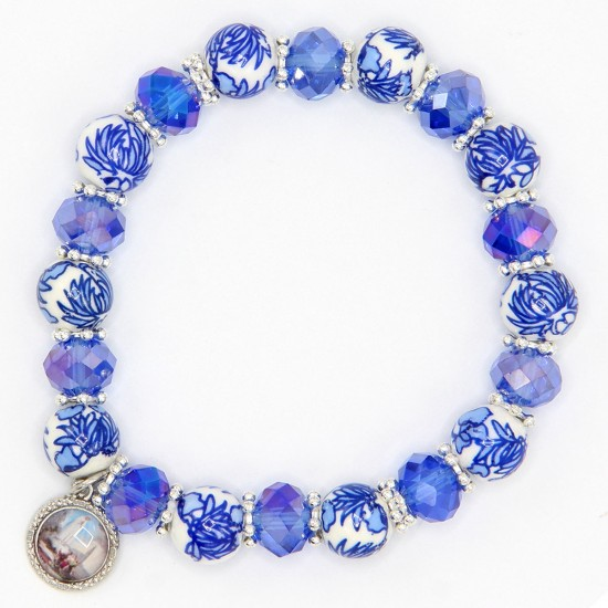 Ceramic and Crystal Bracelet
